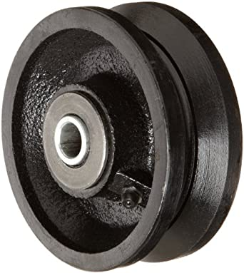 RWM Casters V-Groove Wheel with Straight Roller Bearing 700 lbs Capacity
