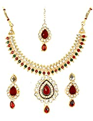 Bhavika Exim's Multicolored Metal Necklace Set For Women - B01KX93BS0