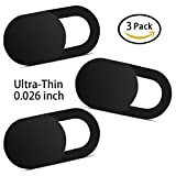 Yilador T1 Laptop Camera Cover (3 Pack), Ultra Slim 0.026 inch Premium Slide Webcam Cover Blocker for Computer, Mac, iMac, MacBook Pro, iPhone, Smartphones, Surface, Security Privacy Sliding Cover