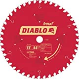Freud D1244X Diablo 12-Inch 44 Tooth ATB General Purpose Miter Saw Blade with 1-Inch Arbor (Color: Red, Tamaño: 12