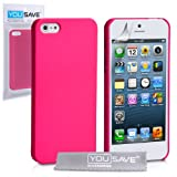 iPhone 5 / 5S Tasche Heiß Rosa Harte Hybride Hülle