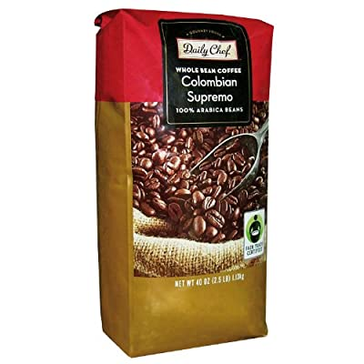 Daily Chef Whole Bean Colombian Supremo Coffee 40oz