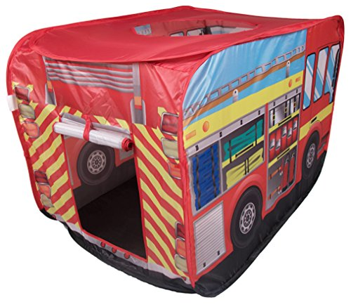 Fire Truck Kids Indoor and Outdoor Play Tent - Easy Assembly (Fire Truck Bed Tent compare prices)