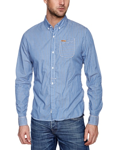 Firetrap Cavalcade Long Sleeve Shirt - Pool Blue