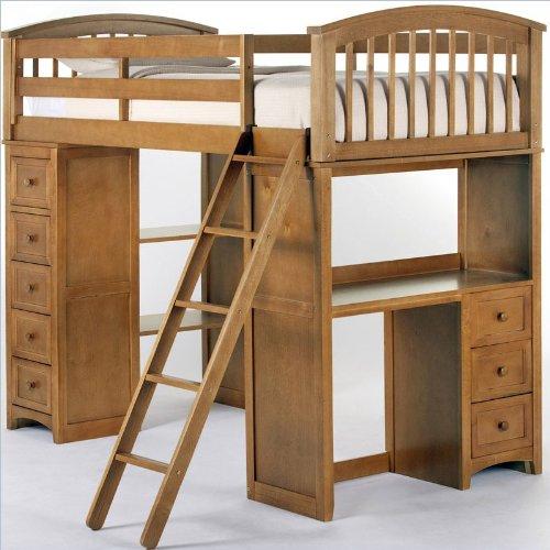 Kids Loft Beds With Desk 3975 front