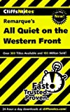 Cliffsnotes All Quiet on the Western Front (0764586718) by Van Kirk, Susan