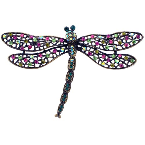 Swarovski Crystal Dragonfly Pins Colorful Insect
