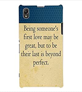 ColourCraft Love Quotes Back Case Cover for SONY XPERIA Z1 - C6903 / C6906