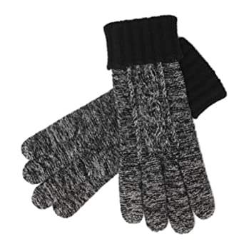 Liz Claiborne Womens Black Wool Touch Screen Texting Gloves for Ipod I-Phone