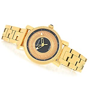 Versace Men's VQ9080014 Day Glam Analog Display Quartz Gold Watch