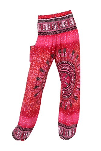 thaiuk-pantalon-para-mujer-multicolor-bright-bubbles-rose-talla-unica