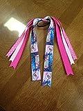Frozen Themed Pony Tail Holder w/ Elsa & Anna (Great Gift for Kids Birthday)