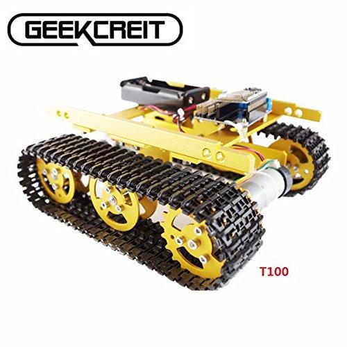 Saver-Geekcreit-DIY-T100-NodeMCU-Aluminum-Alloy-Tank-Track-Caterpillar-Chassis-Smart-Robot-Kit