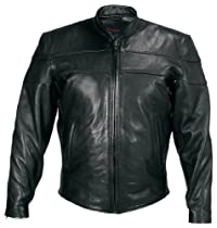 Big Sale Milwaukee Motorcycle Clothing Company Motorcycle Maverick Jacket (Black, XX-Large)