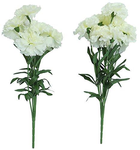 Flores artificiales artificial claveles blanco flores boda for Plantas decorativas artificiales bogota