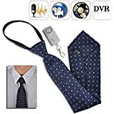 Spy Camera Tie with Wireless Audio Recorder with Remote Control - 4GB DVR Built-in