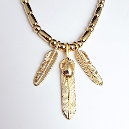 All Gold feather - 0 - all money bead this strap fethenecklace gold gold third eye now t. 2 model sh-98