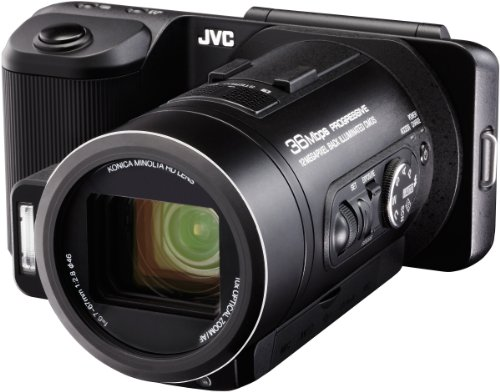 JVC GC-PX10 Full HD High-Speed Camcorder (12 Megapixel, SDHC/SDXC-Card, 10-fach optischer Zoom, 32 GB interner Speicher, Fotofunktion 50 fps)