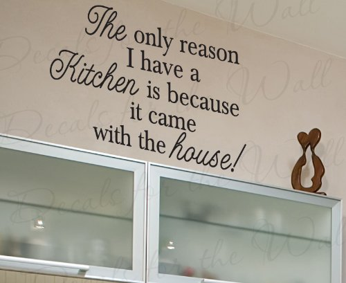 Funky kitchen wall quote decals sarcastically funny you for Fun sayings for dining room wall art