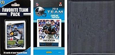 NFL Carolina Panthers Licensed Trading Card Team Set with Storage Album