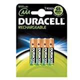 Duracell DUR6002 AAA 950mAh Rechargeable Batteries Carded 4