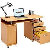 Piranha-Groer-Computertisch-mit-3-Schubladen-und-einem-Unterschrank-PC-2b