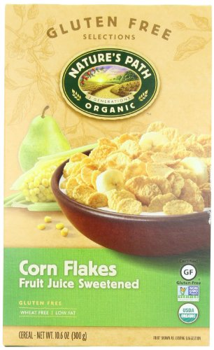 Nature's Path Organic Corn Flakes, Fruit Juice Sweetened Cereal, 10.6-Ounce Boxes (Pack of 6) (Organic Corn Flakes Cereal compare prices)