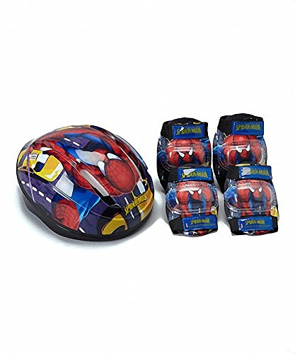 Spider-Man Spiderman Child Helmet and Pads Safety Combo Pack - Helmet, Elbow Pads, Knee Pads