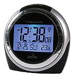 Acctim 71267 Zenith Alarm Clock, Black
