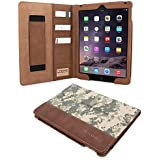 iPad Air (iPad 5) Case, Snugg™ - Executive Smart Cover With Card Slots & Lifetime Guarantee (Digital Camo Leather) for Apple iPad Air (2013)