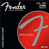 Fender エレキベース弦 Super 250's Nickel-Plated Steel Bass VI Strings (.024-.084) [Bass Ⅵ用弦]