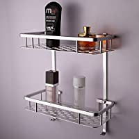 KES A4027-P 12-Inch Aluminum Bathroom Shelf Wall Mounted, Silver Sand-Sprayed from KES Home (U.S.) Limited