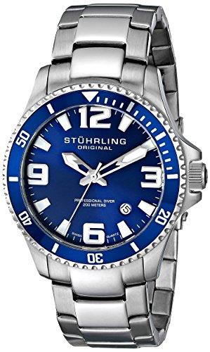"Stuhrling Original Men's 395.33U16 ""Aquadiver Regatta"" Stainless Steel Dive Watch image"