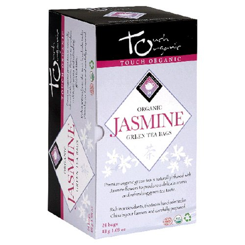 Touch Organic Jasmine Green Tea, 24 Count, 1.68-Ounce Boxes (Pack of 6)