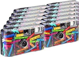 TopShot Lot de 12 appareils photo jetables I mog di pour 27 photos avec flash (Noir)