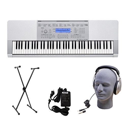 Casio Wk-225 76-Key Premium Portable Keyboard Package With Headphones, Stand And Power Supply