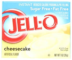 Jell-O Sugar-Free Instant Pudding & Pie Filling, Cheesecake, 1-Ounce Boxes (Pack of 24)