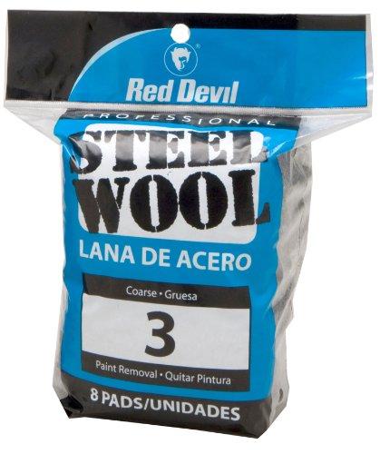 Red Devil 0326 8-Pack Steel Wool, #3 Coarse