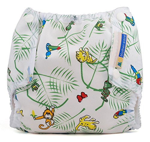 Air Flow Snap Fitted Diaper Cover (Small (8-12 lbs), Rainforest)