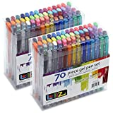 LolliZ Gel Pens 70 Pen Tray Set - Set of 2