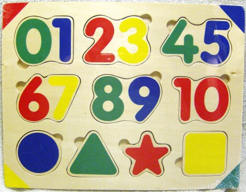 Cheap Fun The Learning Journey Numbers & Shapes Wood Puzzle (B00280KSAC)