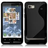 Shop4 Black S-Line Hydro Gel Skin Case Cover for Motorola Motoluxe Mobile Phone