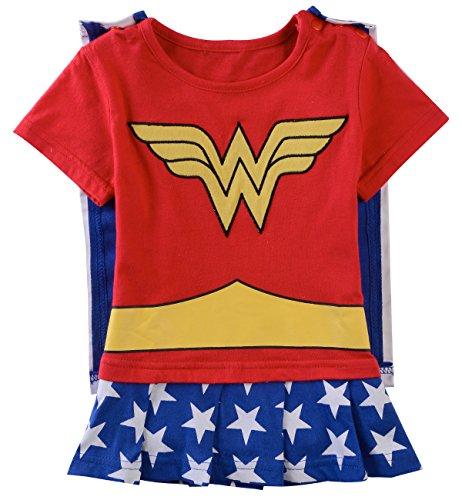 A&J Design Baby Girls' Wonder Woman Short Sleeve Romper 12-18 Months (Aj 16 compare prices)