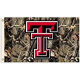 NCAA Texas Tech Red Raiders 3-by-5 Foot Flag with Grommets - Realtree Camo Background