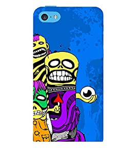 ANIMATED MONSTERS IN A blue BACKGROUND 3D Hard Polycarbonate Designer Back Case Cover for Apple iPhone 5C