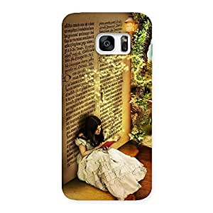 Impressive Secrate Book Multicolor Back Case Cover for Galaxy S7 Edge