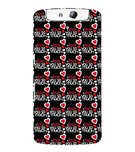 Vizagbeats I love you so much Back Case Cover for Oppo N1