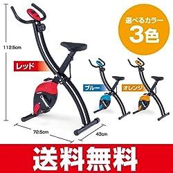 イグニオ(IGNIO) フィットネスバイク (IG-FB001) オレンジ (マグネティックバイク エクササイズバイク プログラムバイク フィットネスバイク