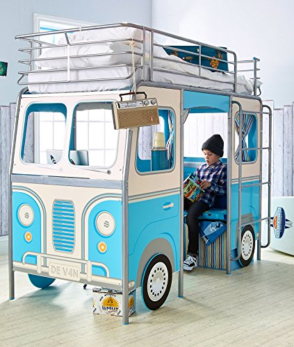 Worlds Apart 865306 The Van Lit Bois Bleu 168 x 105 x 220 cm