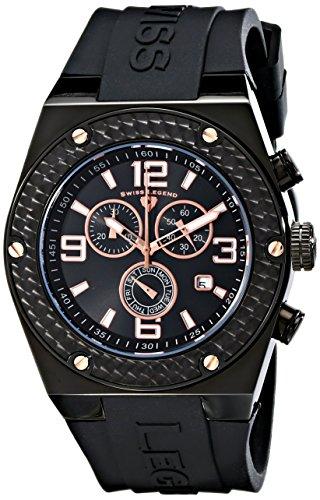 Swiss Legend Men's 30025-BB-01-RA Throttle Analog Display Swiss Quartz Black Watch